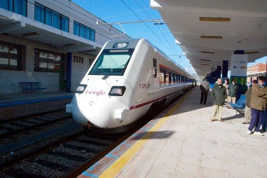 Actual estación de trenes de Jaén.