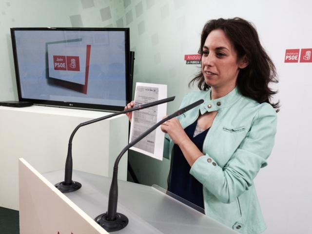Mercedes Gámez, en rueda de prensa
