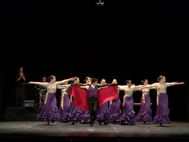 Grupo de flamenco de Jaén en una de sus actuaciones.