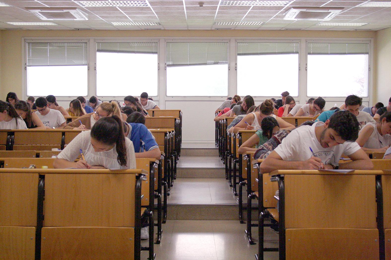 Alumnos jiennenses realizando la prueba de acceso a la universidad. FOTO: HoraJaén