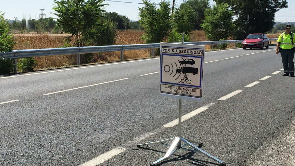 Radar en carretera secundaria.