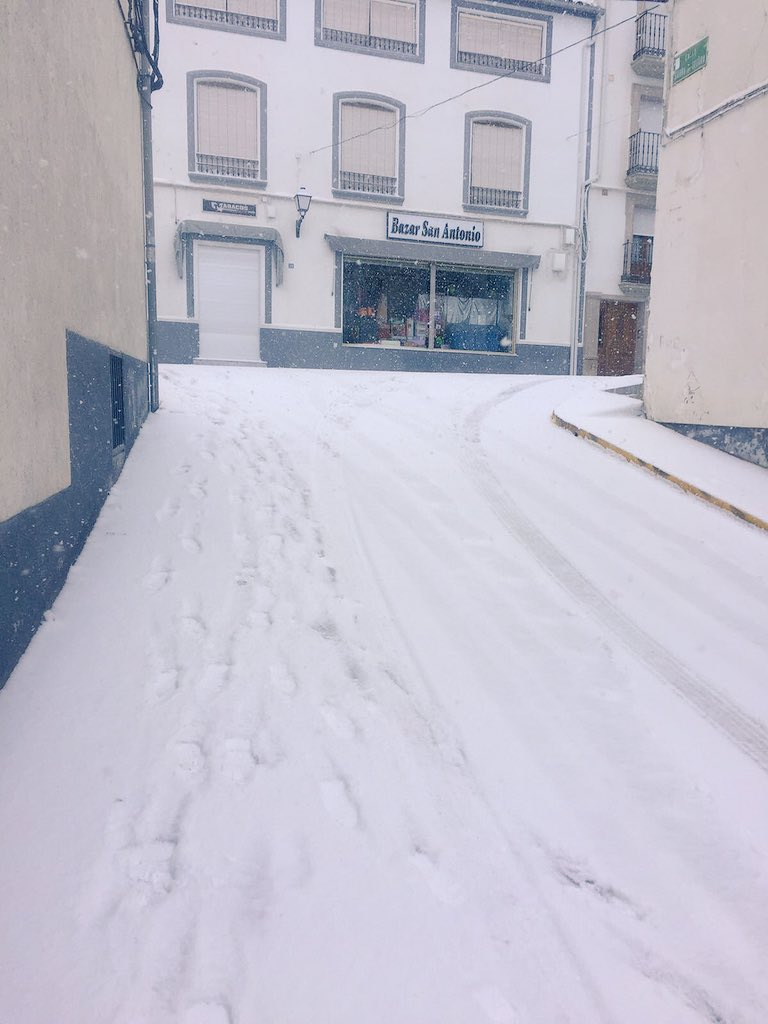 Nieve en Santiago-Pontones. FOTO: VENTURA GARCIA