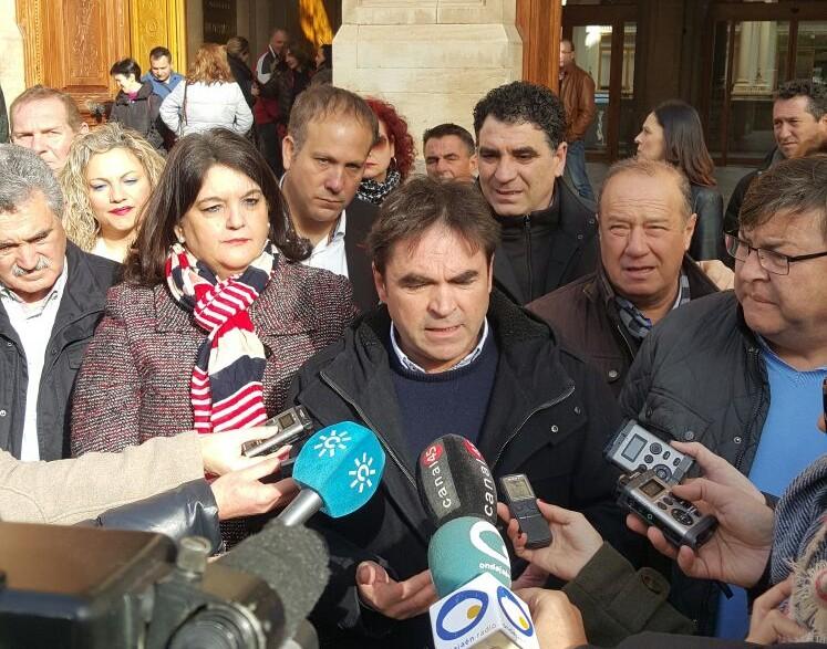 Miguel Moreno en una de sus comparecencias antes la prensa.