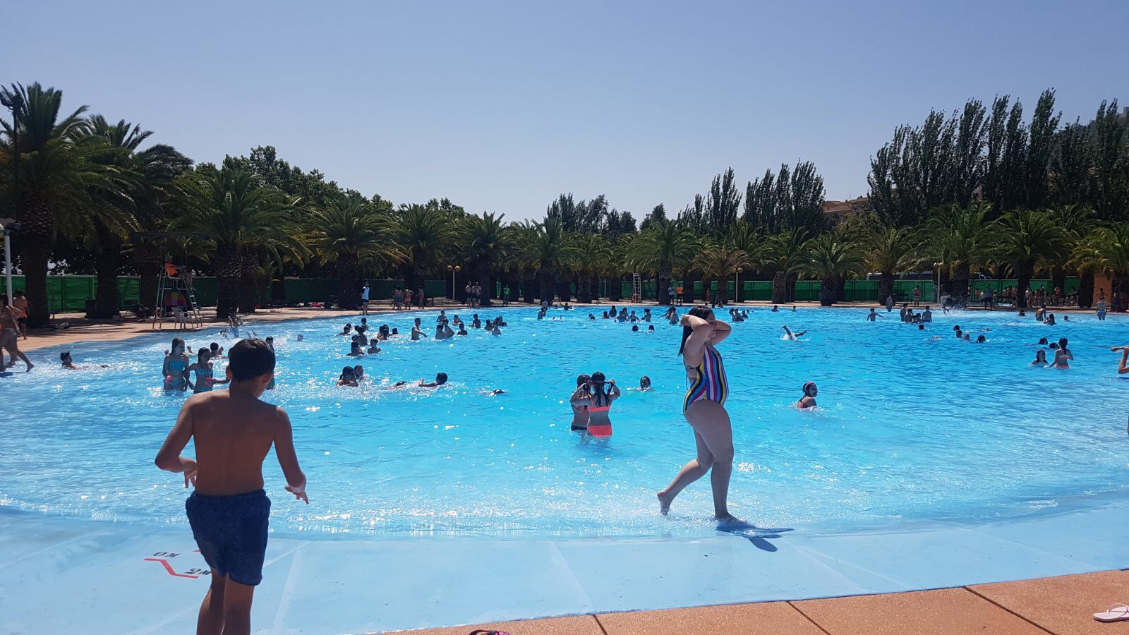 Hoy la piscina de Las Fuentezuelas.