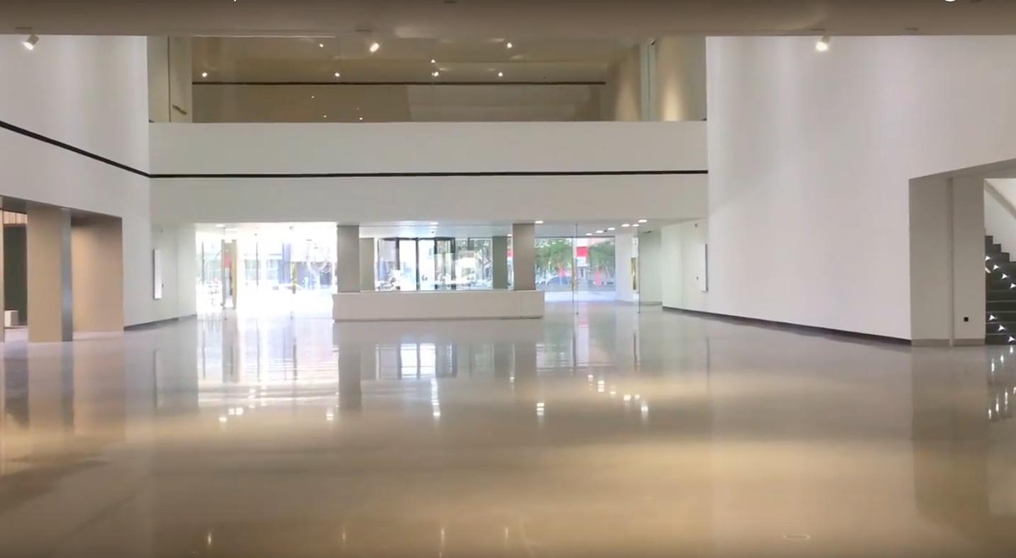 Interior del Museo Íbero completamente terminado.