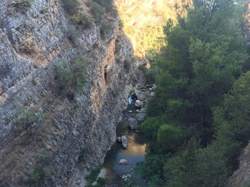 Paraje de Los Cañones en Jaén.
