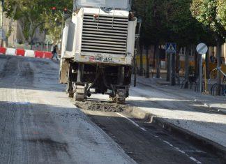 Las obras en la calle Virgen de la Cabeza ya han comenzado. Durarán dos semanas. FOTO: HoraJaén