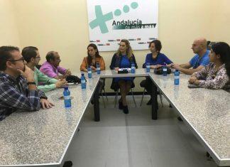 Reunión de trabajadores Castillo con concejales del PSOE de Jaén.