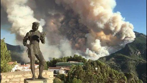 Incendio de Segura de la Sierra, de este pasado verano.