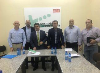 Plataforma Todos a una por Linares con el secretario provincial de Jaén