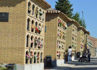 Cementerio de Jaén, durante esta mañana.