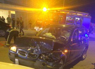 Accidente junto al campus universitario de Linares