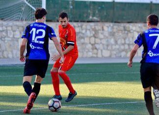 Jugada del partido que enfrentó al inter de Jaén y Arjonilla