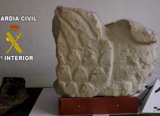 Pieza de arqueología recuperada por la Guardia Civil de Jaén.