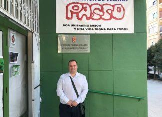 Mario Jonhson, presidente de la asociación de vecinos Passo