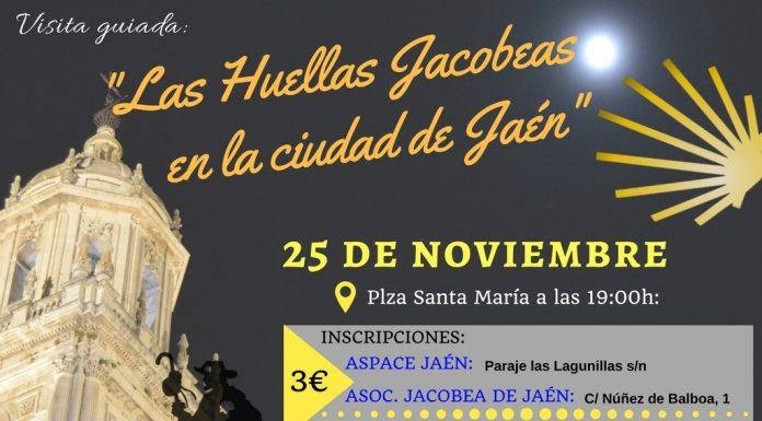 Cartel anunciado de la ruta jacobea por Jaén