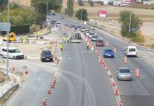 El martes comenzarán las obras de la otra mitad de la gran rotonda sobre la N-323a. FOTO: HoraJaén