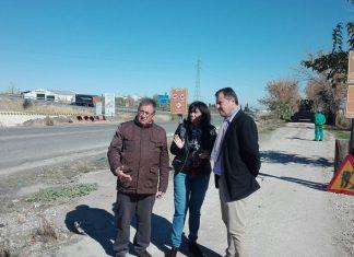El diputado de Medio Ambiente visita el comienzo de las obras de la Vía Verde del Aceite en Torredelcampo.