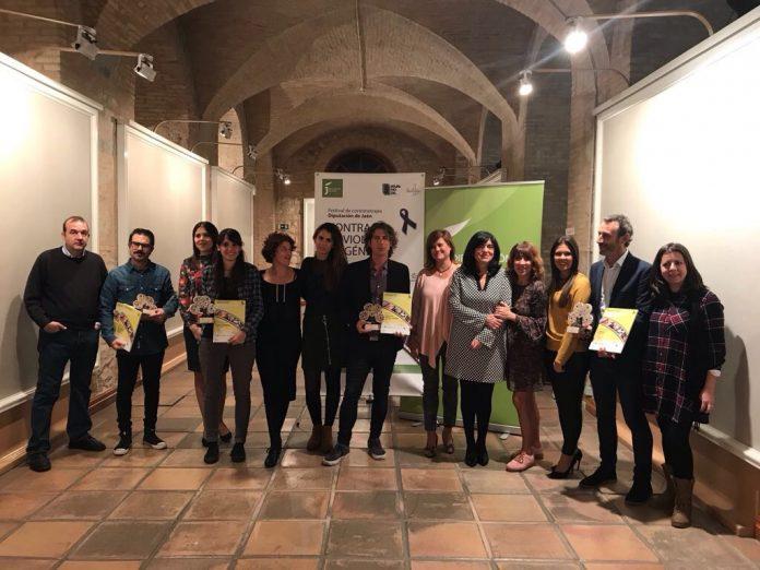 Los ganadores del Festival de Cortos contra la violencia de género.