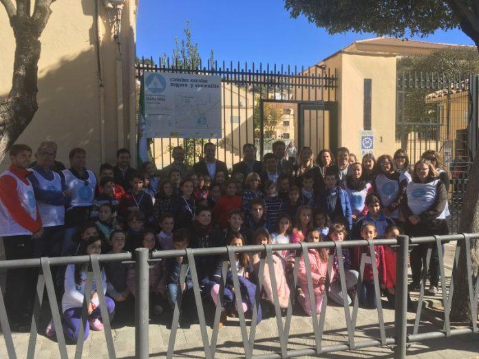 Inauguración del primer camino escolar seguro y sostenible en Alcalá la Real.