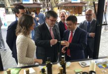 Inauguración en Bilbao de la IV Fiesta Anual del Primer Aceite de Jaén.