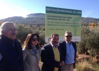 Visita obras realizadas Puente Génave con Peñolite