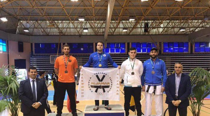 Podio del campeonato de Andalucia Senior de Taekwondo.