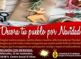 Campaña para decorar Torredonjimeno estas navidades con objetos reciclados.
