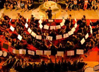 Banda Sinfónica Ciudad de Jaén en uno de sus conciertos.