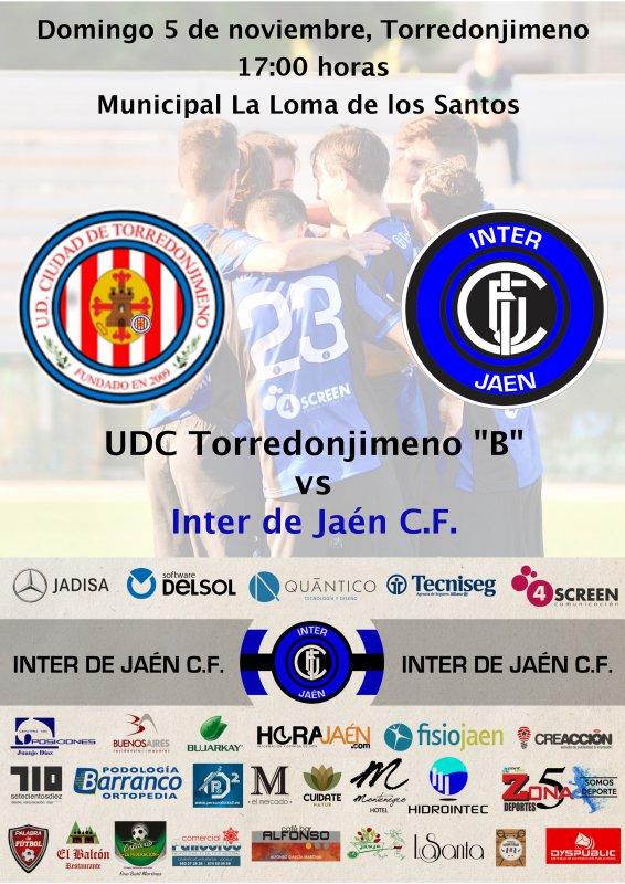 Cartel del encuentro entre Toredonjimeno e Inter de Jaén.