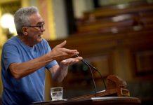 Diego Cañamero ha interpelado, esta mañana, en el Congreso a la ministra de Empleo por medidas para los trabajadores del campo.