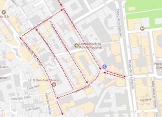 Varias calles del centro cambian su sentido a partir de ahora en el centro de la capital.