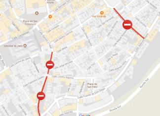 Calles cortadas el próximo martes por obras.