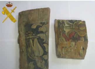 Tablilla de la iglesia de Santa María de Curiel