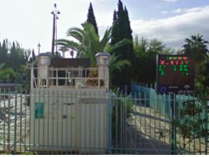 Medidor de la calidad del aire en Bailén.
