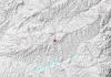 Punto exacto donde se ha producido el terremoto esta madrugada.