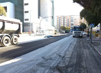 Evolucionan bien las obras en la calle Virgen de la Cabeza.