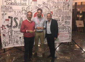 Felipe López, Juan Serrano y Viezma, durante el encuentro de Juventudes Socialistas.