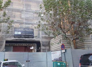 Edificio donde ha caído el obrero esta tarde. FOTO: HoraJaén