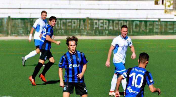 Jugada del partido que enfrentó al Inter de Jaén y Lopera en el Sebastián Barajas.
