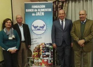 El alcalde de Jaén en la inauguración de las jornadas del Banco de Alimentos.