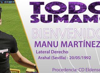 Manu Martínez, nuevo jugador del Real Jaén.