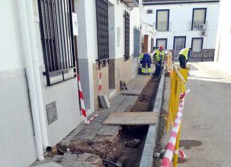 Obras del plan de Mejora de Infraestructuras municipales en Villanueva de la Reina.