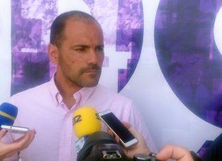 Salva Ballesta atienda a la prensa antes del encuentro del fin de semana.