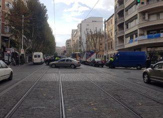 Paseo de la Estación en el primer día de restricciones de tráfico en la zona centro.