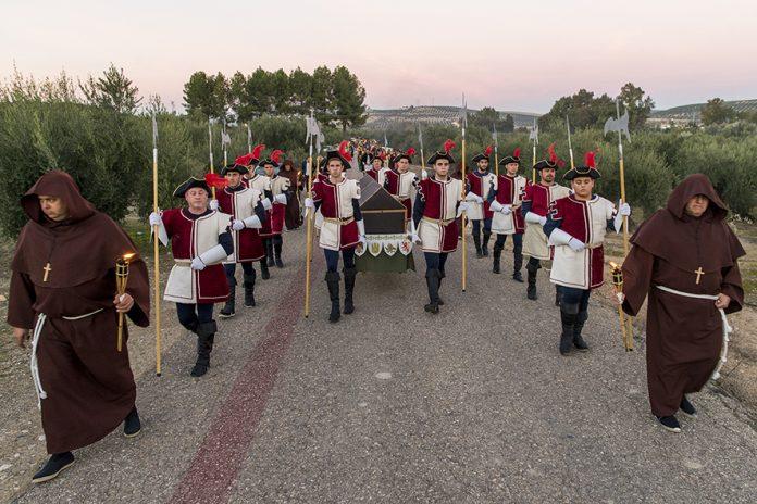Paso del cortejo fúnebre de la reina Isabel la Católica por Mengíbar.