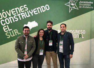 Juan Francisco Serrano con Custodio Valverde, Azahara Cabrera y José Antonio Oria