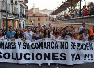 Manifestación del pasado mes de septiembre en Linares.