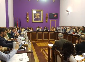 Pleno sobre el debate de estado de la ciudad celebrado ayer en Jaén.