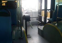 Torno en uno de los autobuses urbanos de Jaén.